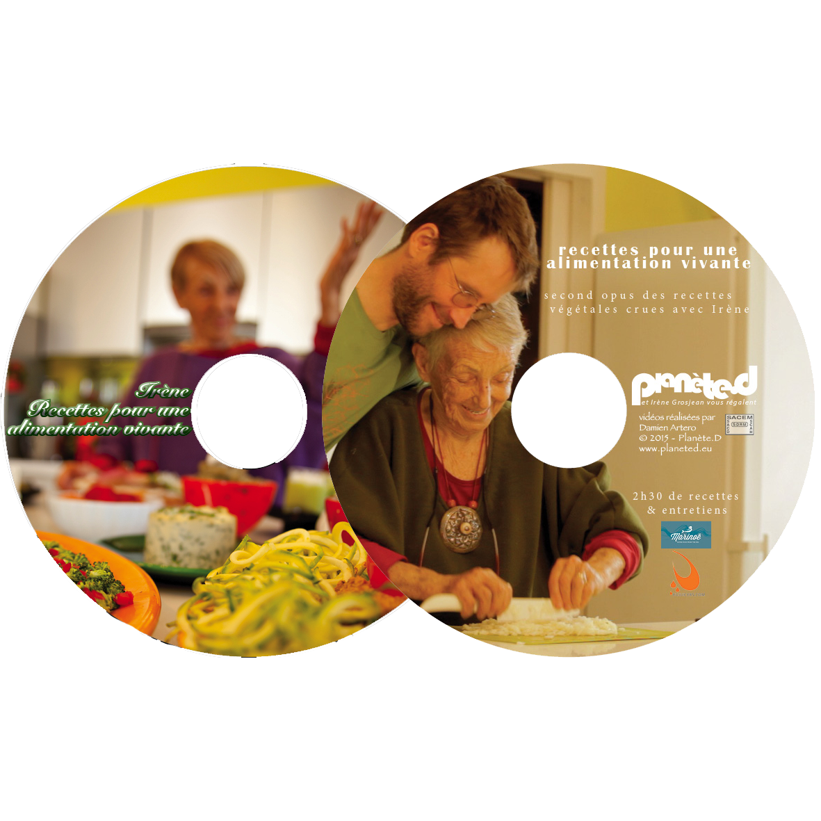 PACK 2 DVD - Recettes végétales crues, tomes 1 et 2 - Vegan raw food recipes, part 1 and 2